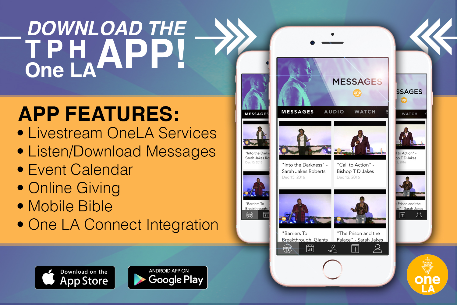 Mobile App – The Potter's House at One LA